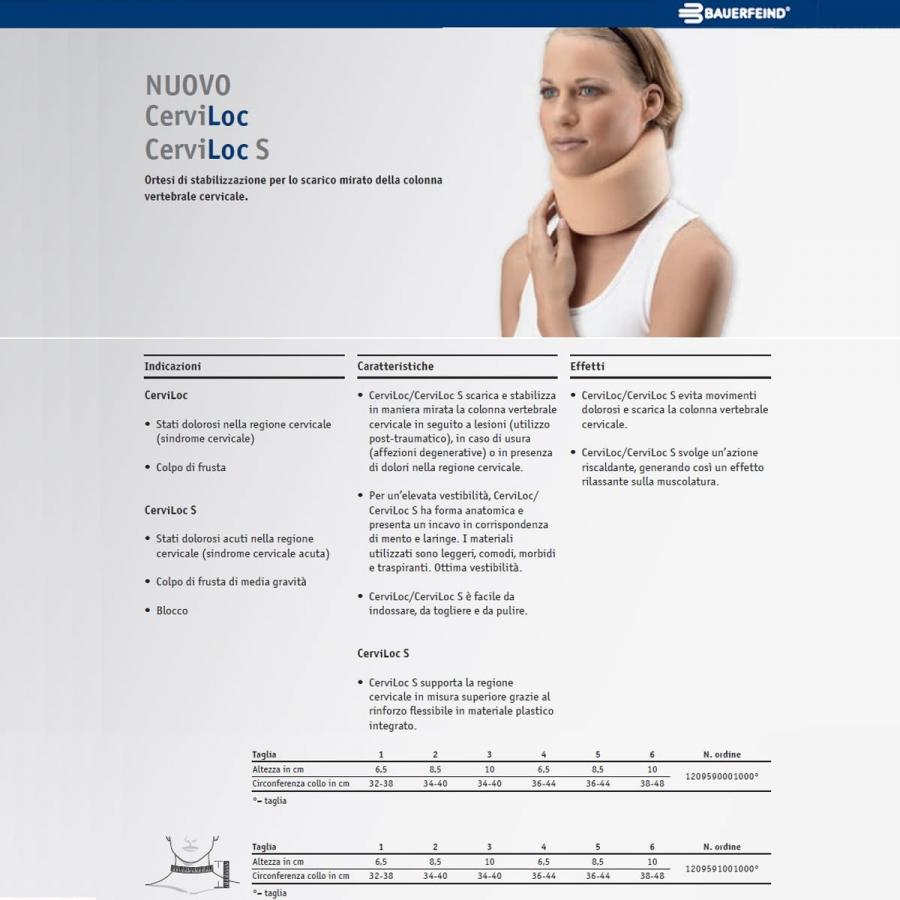 Collare Cervicale Semirigido Prezzo.Collare Cervicale Bauerfeind Cerviloc S Sanitaria Sportiva